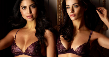 Coco de Mer Amalie Blackberry Lacquered Lace Plunge Bra, Brazilian Brief, Thong & Babydoll