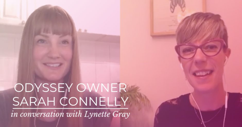 Odyssey Boutique Owner and Lingerie Fitting Expert Sarah Connelly in conversation with Life coach and meditation coach Lynette Gray
