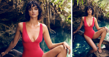 Odyssey Boutique Swimwear, Simone Perele Luna Cherry 1-Piece Swimsuit