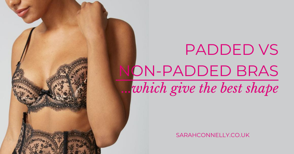Padded Vs Non-Padded bra – which bra gives the best shape? Model wearing black lace bra