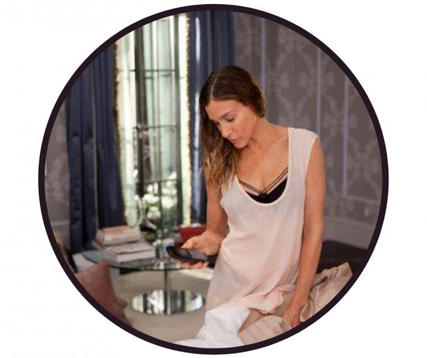 Sarah Jessica Parker wears black marlies Dekkers strappy bra