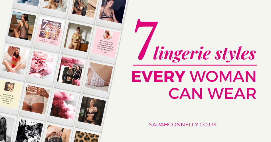 Collage of flattering lingerie styles